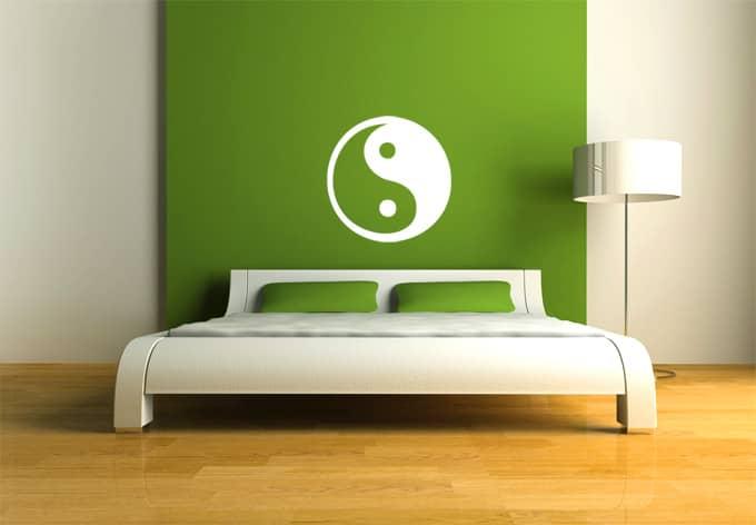 Sticker mural yin yang wall for Meuble mural yin yang