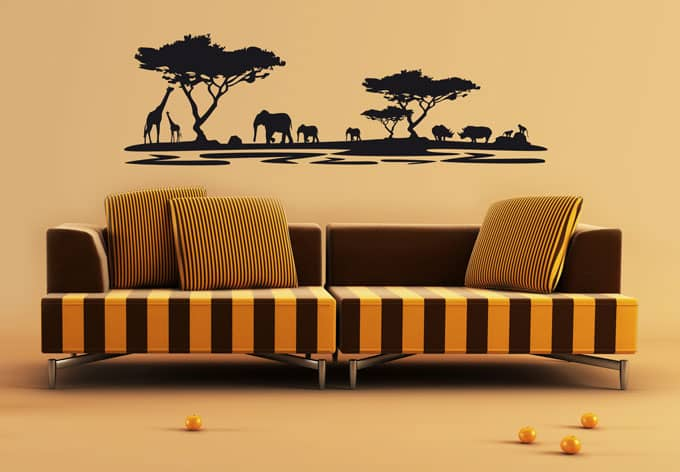 wandtattoo afrika 5 afrikanische deko f r wohnzimmer. Black Bedroom Furniture Sets. Home Design Ideas