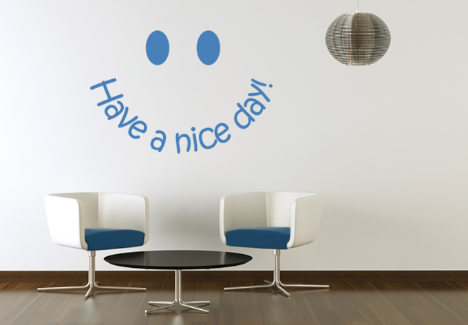 Muursticker Smiley - Have a nice - wall-art.nl