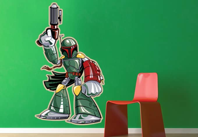 wandtattoo star wars clone wars boba fett comic style. Black Bedroom Furniture Sets. Home Design Ideas