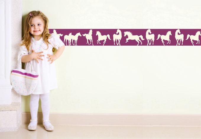 wandsticker bibi tina bord re pferde f r kinderzimmer wall. Black Bedroom Furniture Sets. Home Design Ideas
