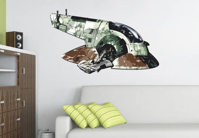 wandtattoo star wars clone wars jango fett 39 s slave 1 als. Black Bedroom Furniture Sets. Home Design Ideas