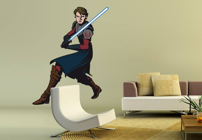 wandtattoo star wars clone wars anakin skywalker 02 als. Black Bedroom Furniture Sets. Home Design Ideas