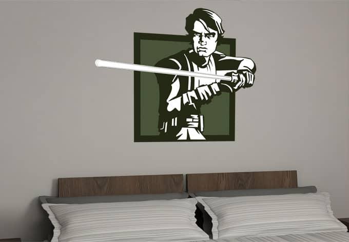wandtattoo star wars clone wars anakin skywalker als. Black Bedroom Furniture Sets. Home Design Ideas
