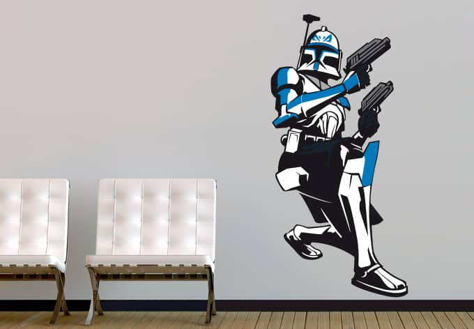 wandtattoo star wars clone wars captain rex 04 als. Black Bedroom Furniture Sets. Home Design Ideas