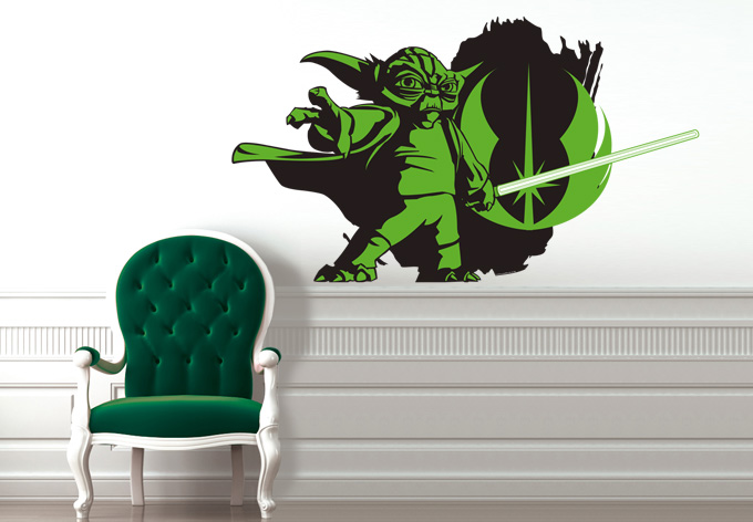 wandtattoo star wars clone wars yoda 06 als offizielles. Black Bedroom Furniture Sets. Home Design Ideas