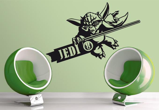 Wandtattoo Clone Wars Yoda einfarbig 03