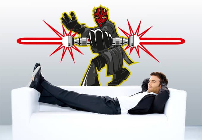 wandtattoo star wars clone wars darth maul comic style. Black Bedroom Furniture Sets. Home Design Ideas