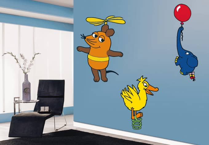wandtattoo die maus nur fliegen ist sch ner die sendung mit der maus wall. Black Bedroom Furniture Sets. Home Design Ideas