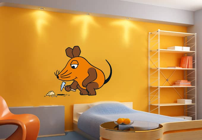 elefant und maus wandsticker sendung mit der maus maus. Black Bedroom Furniture Sets. Home Design Ideas