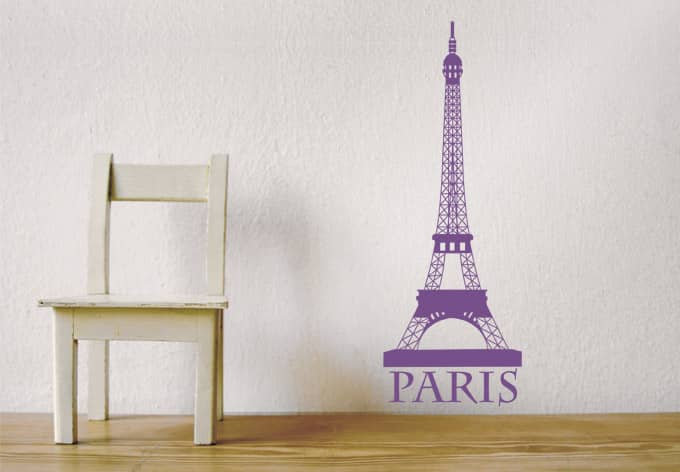 Sticker mural tour eiffel 2 wall for Stickers tour eiffel chambre