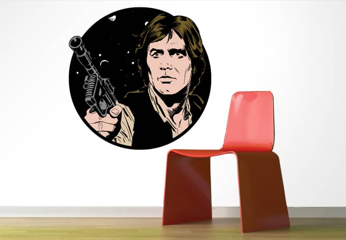 wandtattoo star wars clone wars han solo classic als. Black Bedroom Furniture Sets. Home Design Ideas