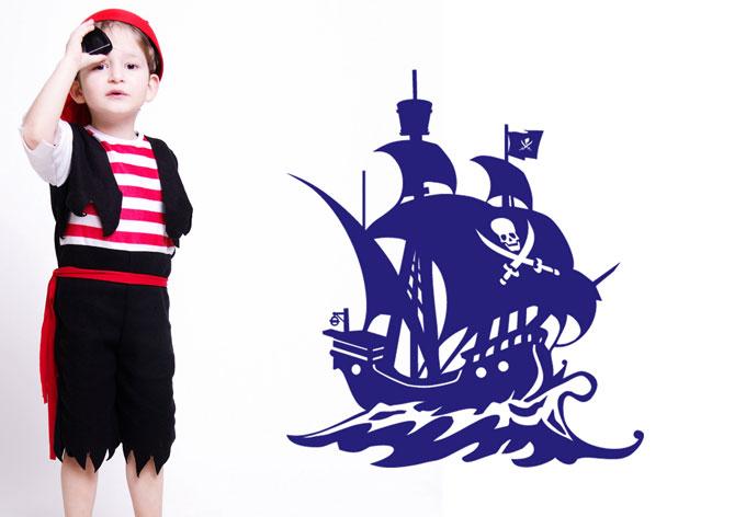 Wandtattoo piratenschiff der richtige wandsticker f r for Wandtattoo piratenschiff