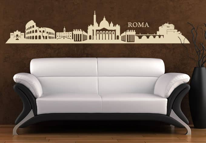 Rome skyline wall sticker wall for Wall stickers roma