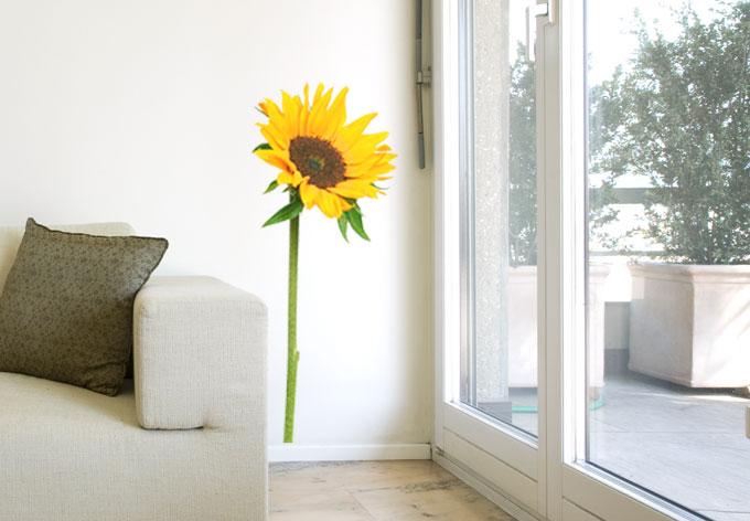 Sunflower Single Wall Sticker Wall Art Com