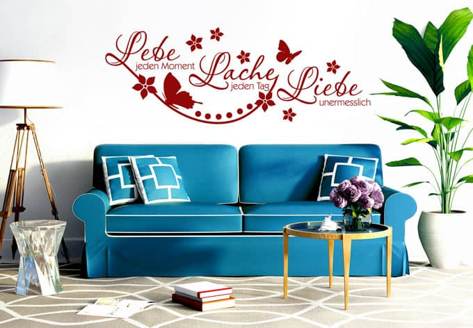 poesie lebe jeden moment lache jeden tag liebe. Black Bedroom Furniture Sets. Home Design Ideas