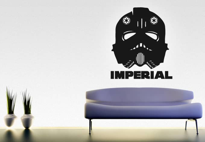 wandtattoo star wars clone wars imperial mask als. Black Bedroom Furniture Sets. Home Design Ideas