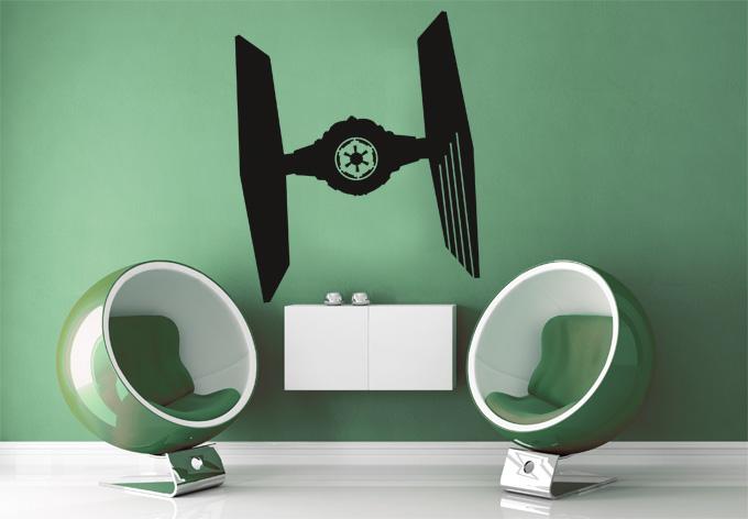 wandtattoo star wars clone wars tie fighter silhouette. Black Bedroom Furniture Sets. Home Design Ideas