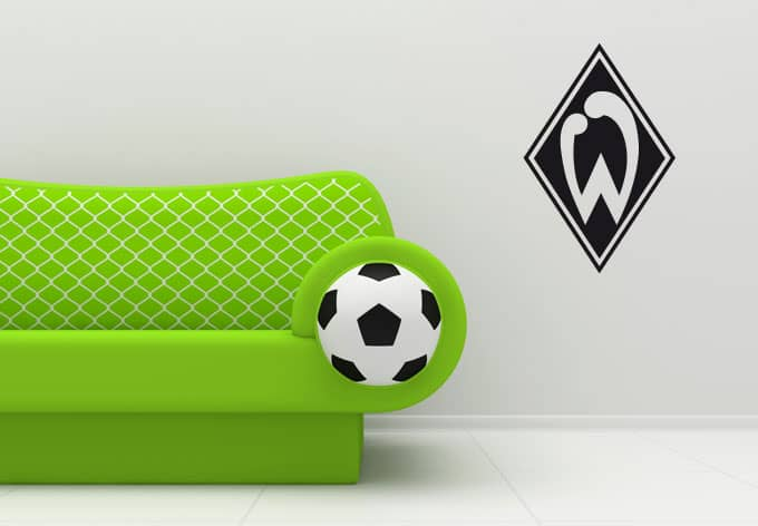 wandtattoo werder bremen einfarbiger wandsticker mit. Black Bedroom Furniture Sets. Home Design Ideas