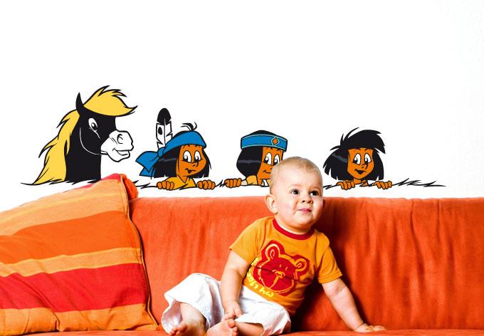 Wandtattoo yakari und freunde wandbild f r kinderzimmer for Kinderzimmer yakari