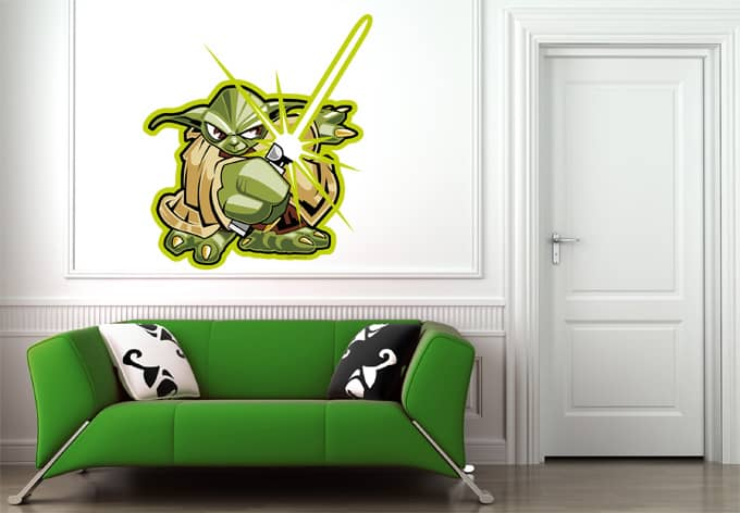 wandtattoo star wars clone wars yoda comic style 01 als. Black Bedroom Furniture Sets. Home Design Ideas