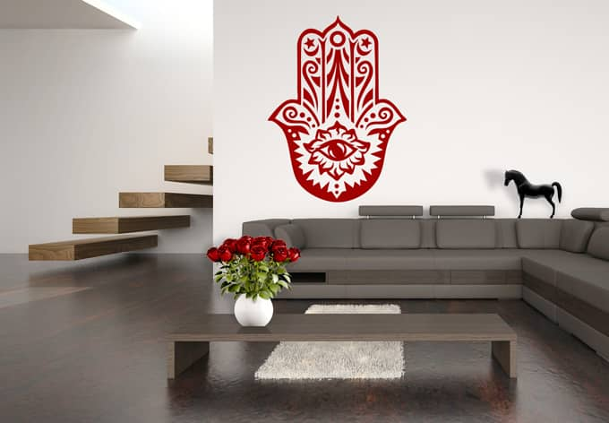 sticker mural khamsa la wall. Black Bedroom Furniture Sets. Home Design Ideas