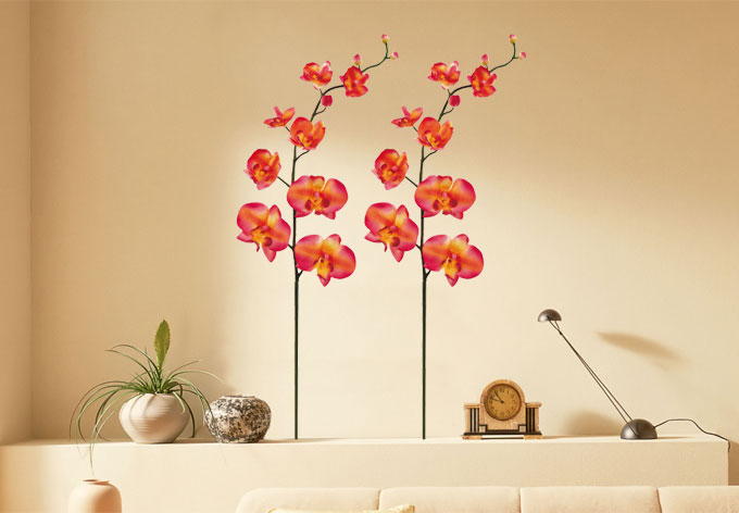 sticker mural orchid e wall. Black Bedroom Furniture Sets. Home Design Ideas