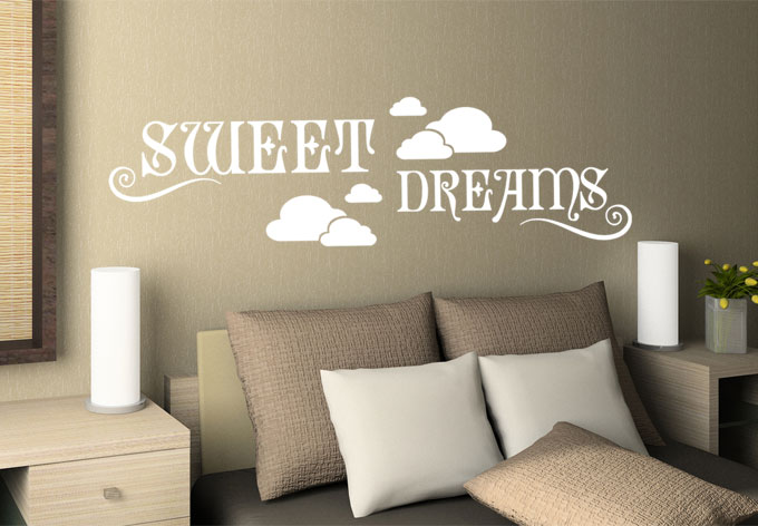 muursticker sweet dreams wallartnl