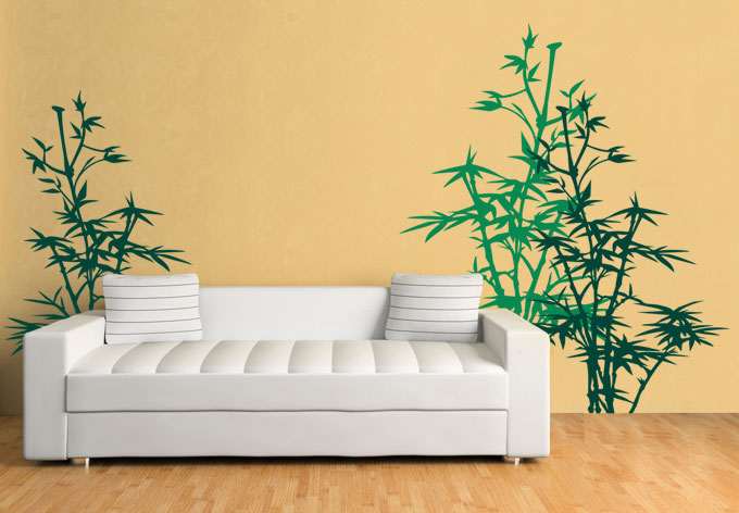 bamboo plant wall sticker wall art com solar system wall decal planet space wall decal by decalstyles
