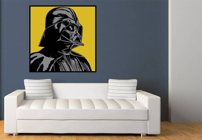 wandtattoo star wars clone wars darth vader classic 03. Black Bedroom Furniture Sets. Home Design Ideas