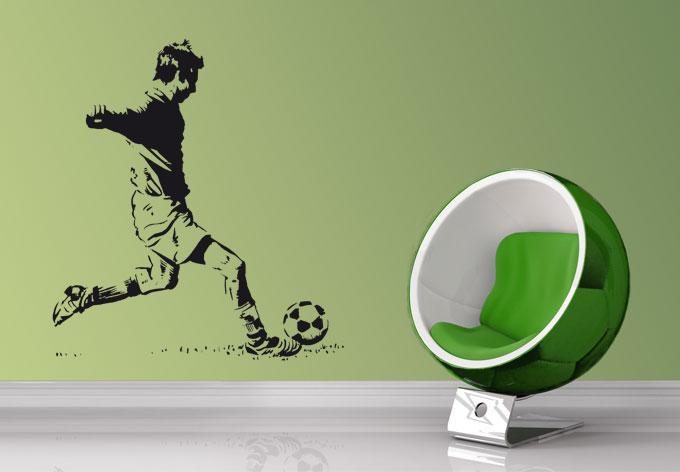 football player 2 wall sticker wall art com vinyl wall decal sticker football player stickerbrand