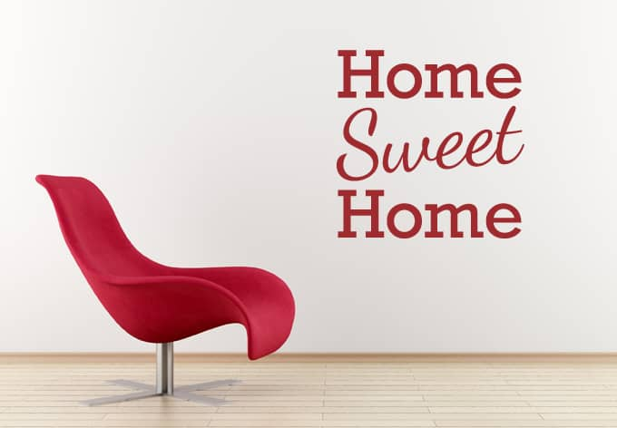 Wall Stickers Home Sweet Home 2  wallart.com