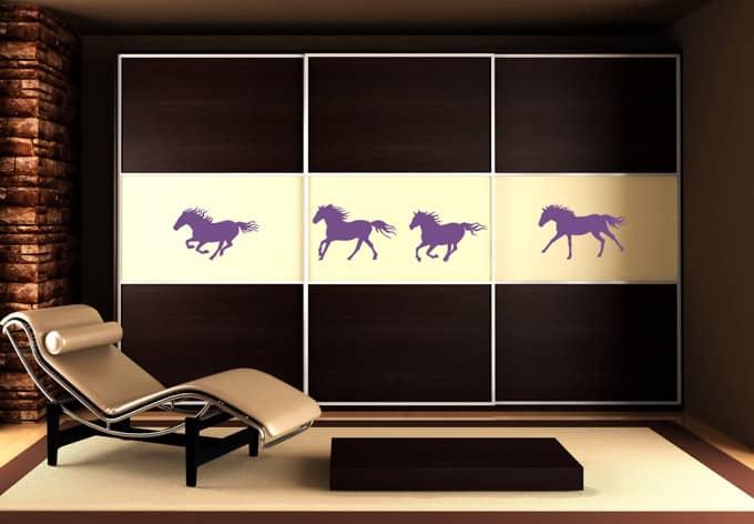 Wandtattoo Pferde-Set