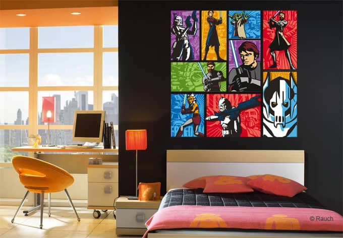 wandtattoos von star wars the clone wars pop art wall. Black Bedroom Furniture Sets. Home Design Ideas