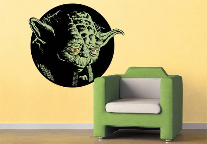 wandtattoo star wars clone wars yoda classic 02 als. Black Bedroom Furniture Sets. Home Design Ideas