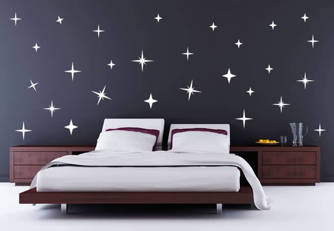 wandsticker sternennacht deko f r schlafzimmer wall. Black Bedroom Furniture Sets. Home Design Ideas