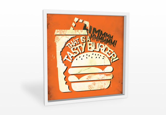 hartschaum wandbild pulp fiction a tasty burger wall. Black Bedroom Furniture Sets. Home Design Ideas