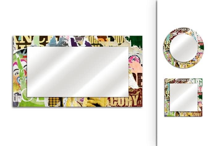 Spiegel Afgescheurde Poster 02 - wall-art.nl