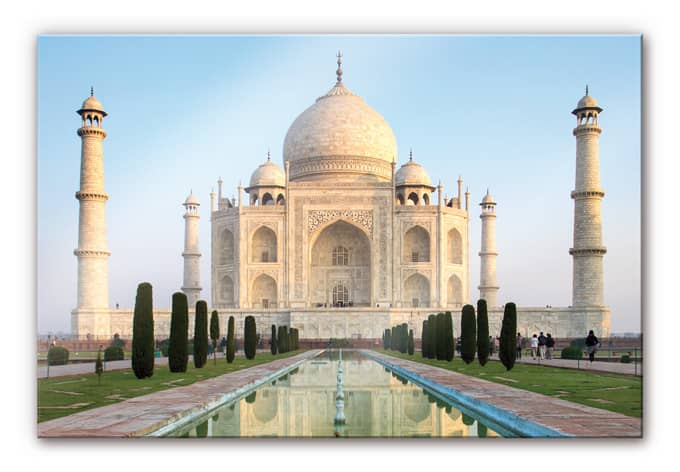 taj mahal acrylic print wall. Black Bedroom Furniture Sets. Home Design Ideas