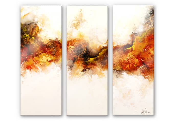 Acrylglas wandbild fedrau goldadler 02 3 teilig wall for Tableau en 3 parties