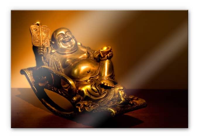 Acrylglas Happy Boeddha - wall-art.nl