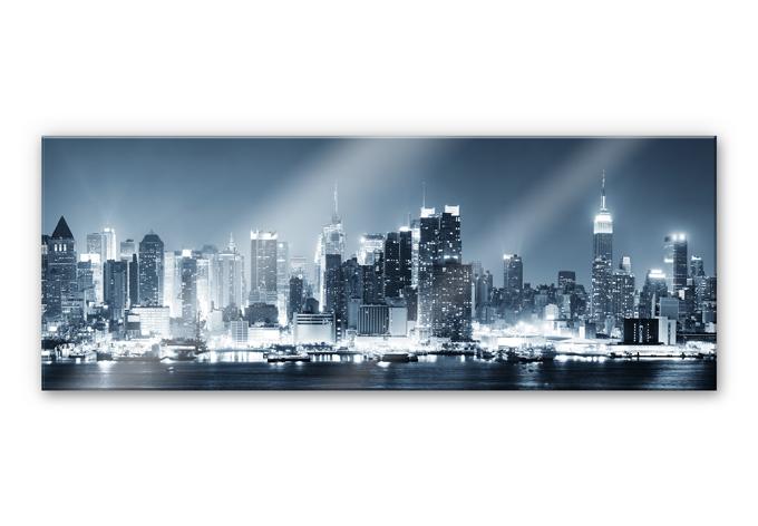 xxl wandbild new york at night 1 panorama. Black Bedroom Furniture Sets. Home Design Ideas