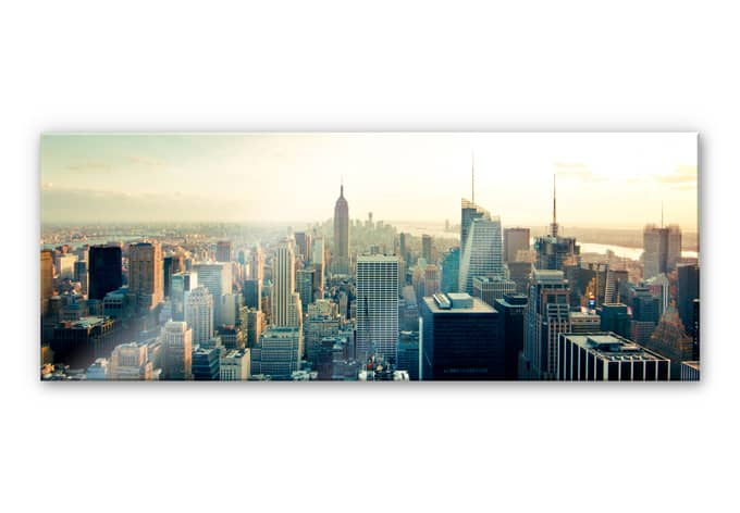 acrylglas wandbild skyline von new york city panorama. Black Bedroom Furniture Sets. Home Design Ideas