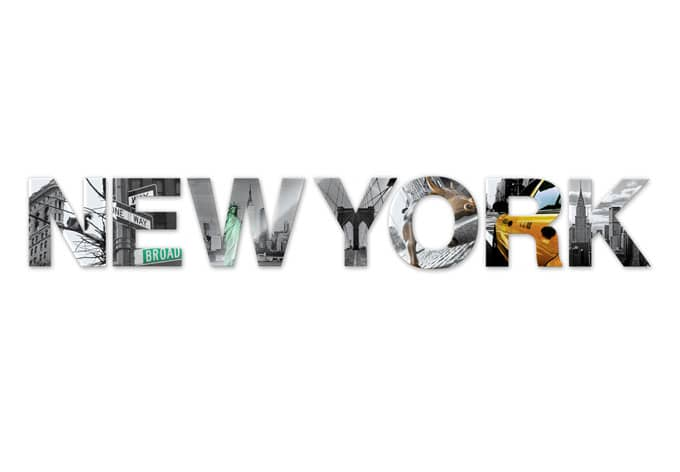 New York Acrylic Letters Wall Art Com