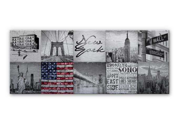 alu dibond wandbild impressions of new york city. Black Bedroom Furniture Sets. Home Design Ideas