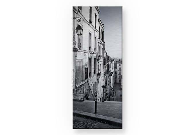 alu dibond mit silbereffekt pariser berg montmartre im panoramaformat von k l wall art wall. Black Bedroom Furniture Sets. Home Design Ideas