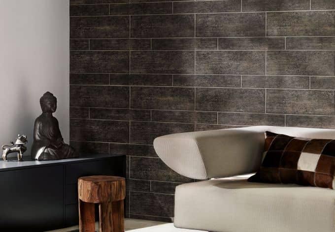 A.S. Création steinoptik Tapete Wood'n Stone Braun, Grau, Schwarz ...