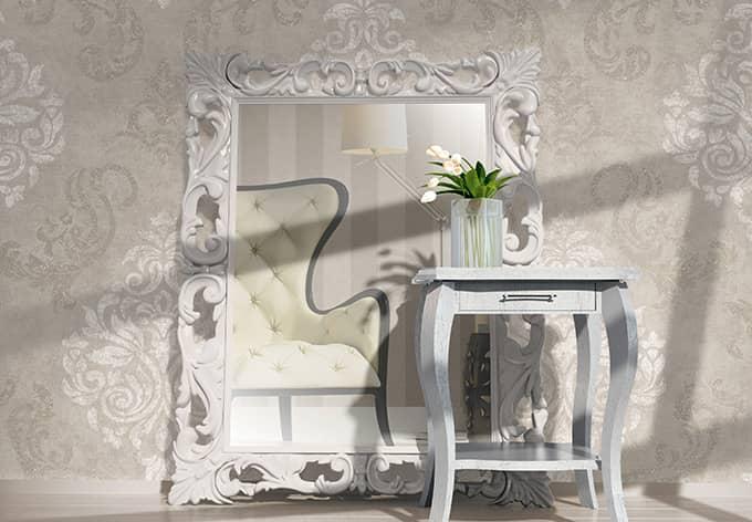 design : barock tapete wohnzimmer weiß ~ inspirierende bilder von ... - Wohnzimmer Weis Creme