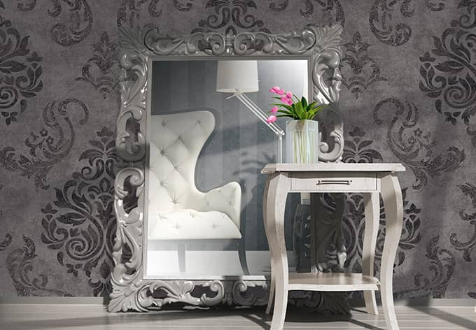 stunning muster tapete wohnzimmer photos - amazing design ideas
