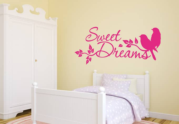 wandtattoo sweet dreams 4 wall. Black Bedroom Furniture Sets. Home Design Ideas